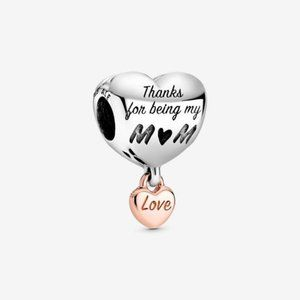 ❤️NWT Pandora Love You Mom Heart Charm
